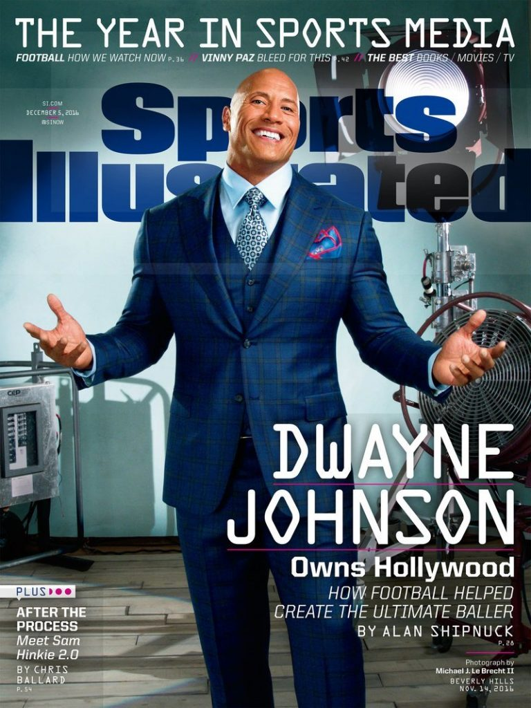the Rock Sports Illustrated cover
