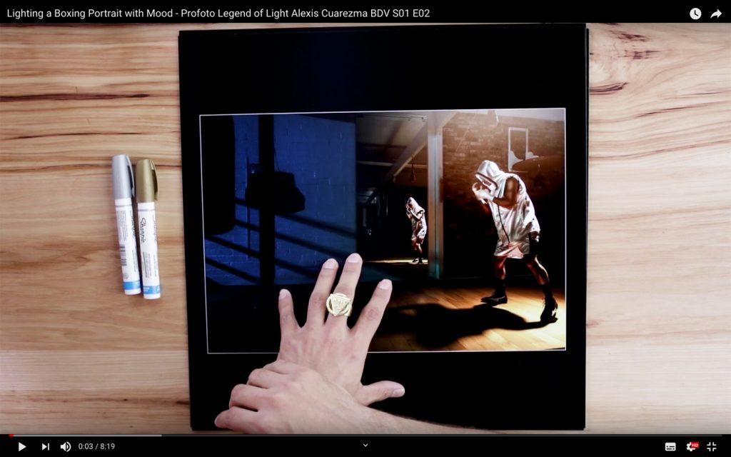 Lighting aBoxing Portrait with Mood - Profoto Legend of Light Alexis Cuarezma