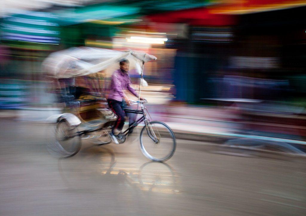 Rickshaw rider, Kathmandu, Nepal © Jeremy Flint