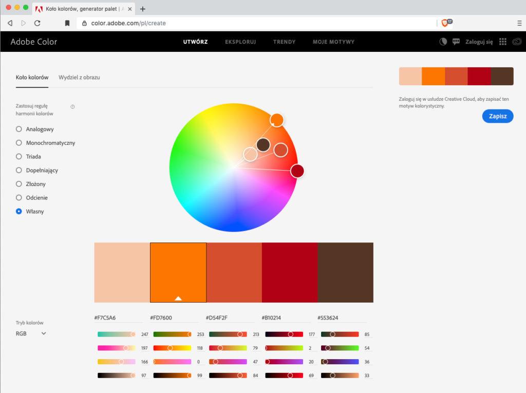 Adobe Color i harmonia na zdjęciu